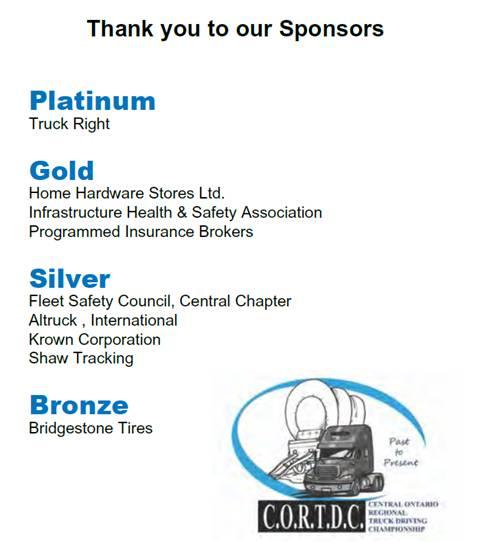 CORTDC 2016 Sponsors